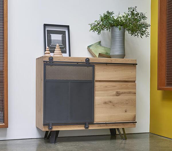 Meuble d'entrée industriel Fusion Couture meubles duquesnoy frelinghien nord lille armentieres