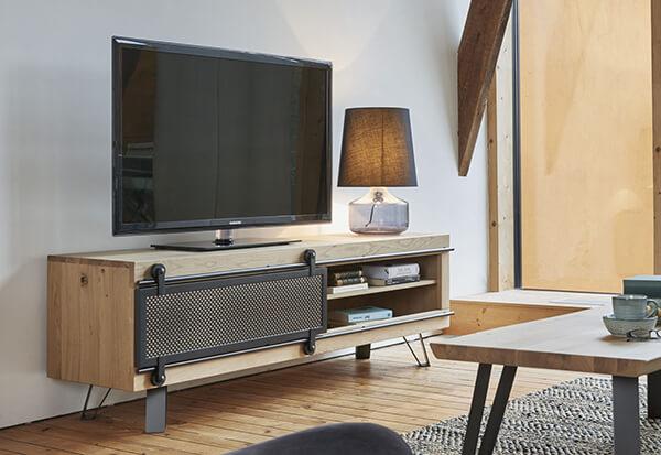 Meuble TV industriel Fusion Couture meubles duquesnoy frelinghien nord lille armentieres
