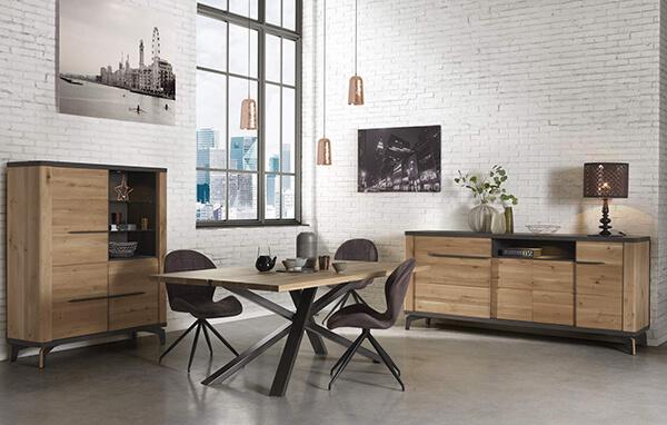 salle a manger industrielle jasmin couture meubles duquesnoy frelinghien nord lille armentieres