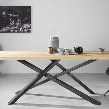table de repas rectangulaire industrielle jasmin couture meubles duquesnoy frelinghien nord lille armentieres