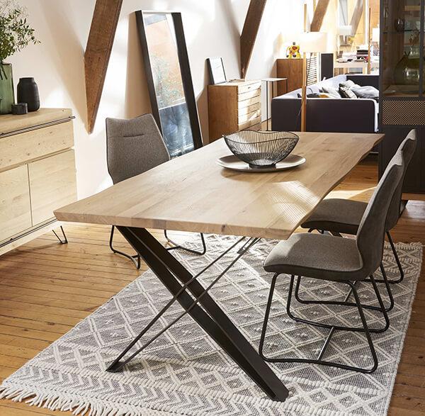 Table rectangulaire industrielle Fusion Couture meubles duquesnoy frelinghien nord lille armentieres
